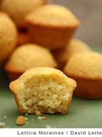 Portuguese Mini Lemon-Orange Cakes    -     citrusy queques served as part of breakfast -  buttery, with soft insides and crispy edges
