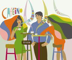 Caféino - Kari Modén Illustration