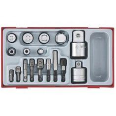 Kazeta Teng Tools s redukciami a adaptérmi, 17 dielov Mixer, Kitchen Appliances, Tools, Extensions, Keys, Products, Diy Kitchen Appliances, Home Appliances, Instruments