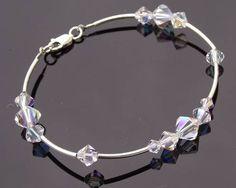 Swarovski Crystal & Sterling Silver Bracelet, Tabitha Wedding Bracelets, Wedding Earrings, Wedding Jewelry, Wedding Accessories, Hair Accessories, Crystal Wedding, Sterling Silver Bracelets, Fashion Bracelets, Swarovski Crystals