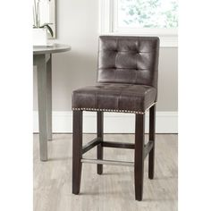 Safavieh Thompson Antique Brown Counter Stool - overstock - $197 - PU Leather