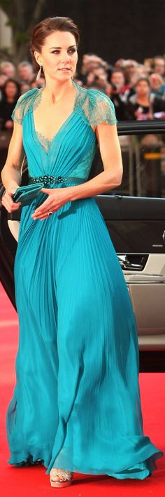 Kate Middleton in Jenny Packham Dress as she attends Olympic gala in 2012
