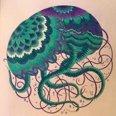 Scrapperdee's Ramblings as a SAHM: Colouring - Millie Marotta Tropical Wonderland - jellyfish #milliemarotta #tropicalwonderland