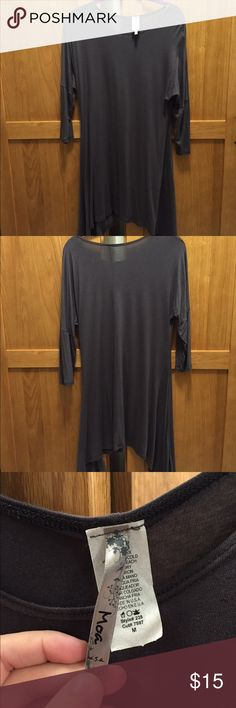 Short long shirt Long on the sides, worn well with leggings. Piko styled shirt. Never worn! Moa Moa Tops Blouses