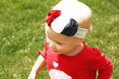 4th of July Jersey Headband  Baby Headband  Photo by Oliviaavenue, $9.00