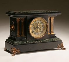 Seth Thomas Mantle Clock- similar to mine which is dated 1893 E (May).  It adorned the fireplace mantle @ the Pink Palace