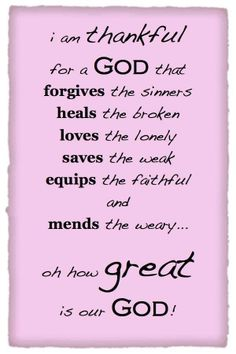 I'm Thankful..................