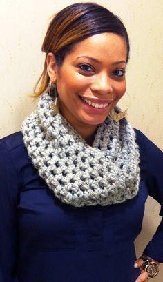 Chunky Crochet Cowl Scarf by HandmadeByMissylui on Etsy, $35.00