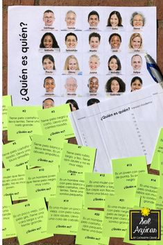 "This task card guessing game is 100% en español and designed for novice learners. 25 cards gives a clue describing a person on the ""game board."" Students read the cards and guess who is described. The content is designed for novice learners to develop interpretive communication skills through comprehensible input. Activity ideas are included, but there are so many ways you can be creative with these cards."