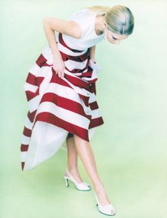 Sweeping Understatements Vogue UK, circa 1990'sPhotographer: Jacques OlivarModel: Kirsty HumeTop & skirt by Bruce Oldfield