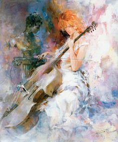 "Художник Willem Haenraets.: tiina………MY GRANDDAUGHTER'S INSTRUMENT OF CHOICE…….IT WAS ""SOMETHING"" TO SEE HER TAKING IT WITH HER ON THE BUS IN BOSTON --- BUT, TAKE IT SHE DID…………….ccp"