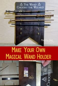 "LOVE this! Perfect for a kid's room, or your ""Harry Potter"" cave! #wwohp #harrypotterdiy #harrypotterwand Plan your next trip by requesting a quote at http://destinationsinflorida.com/pinterest"