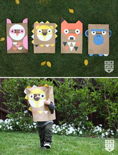 I l-o-v-e these!! -> Easy paper Halloween bag costumes via @Design Mom