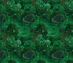 Malachite fabric 2 fabric by ravynka on Spoonflower - custom fabric