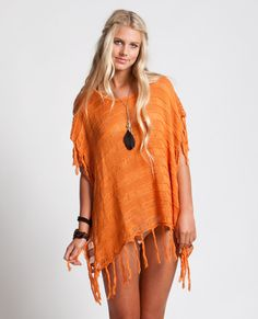 THUNDERBIRD COVER UP....  Adorable swim cover up with fringe at sleeves and hem.