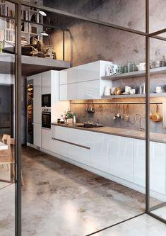 TPC Cocinas | Galería Interior Exterior, Kitchen Island, Divider, Room, Furniture, Home Decor, Crystal, Ideas, Minimalist Kitchen