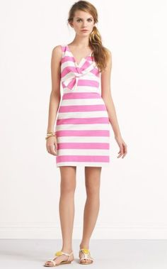 Kate Spade silverscreen dress  $388.00 ~ Ok they had me at Pink Stripe and Big Bow. LOVE