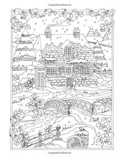 http://Amazon.com: Creative Haven Winter Wonderland Coloring Book (Adult Coloring) (9780486805016): Teresa Goodridge: Books