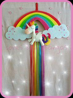 Unicórnio em feltro Felt unicorn