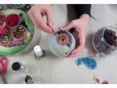 ▶ Sharra Frank's Online Mosaic Class { Jeweled Ornaments } - YouTube