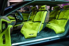 Paris 2016: Citroën CXperience is as sharp as citrus - Car Design Inside, the most noticeable component is the colour – an exuberant lemon yellow at odds with the subtle exterior. The result provides a contrast comparable to the colourful crystalline interior of a geode, or the bright flesh of an exotic fruit.   Citroen Cxperience 6 The yellow upholstery has a woven texture on the seating and a knitted look on the doors. Zigzag patterns stitched into the seating are asymmetrical, angular…