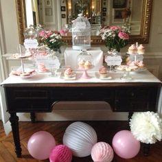 Candy bar et sweet table Marie Antoinette