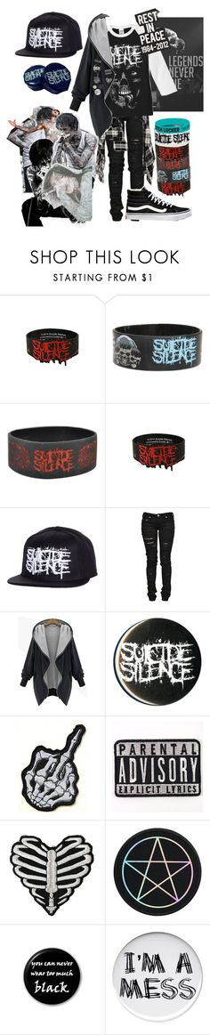 """"""".:five years ago, a legend died (rtd):."""" by dontfallasleepatthehelmm ❤ liked on Polyvore featuring Hot Topic, Denim of Virtue and Vans"""