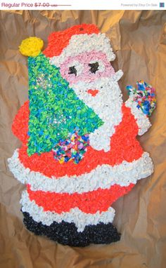 Loved the texture when I was little. We hung this on our front door every Christmas!