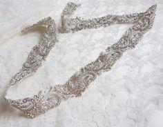 Luxury bridal belt silver wedding belt bridal belt wedding