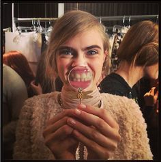 delevingnenews:    Cara Delevingne backstage for Tory Burch      Oh love this one too hahaha