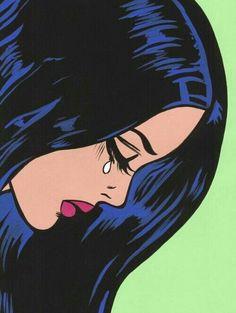 Image via We Heart It #cartoons #cry #girl #goals #lost #makeup #sad #woman