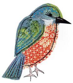 Kingfisher - Sarah Dodd textile                                                                                                                                                                                 More