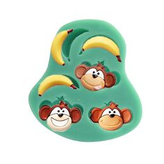 Baidecor Monkey Banana Silicone Chocolate Molds Candy Mold Set Of 3 > You will love this! More info here : Candy Making Supplies