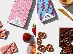 Look, if we had to perish in a river of chocolate à la Augustus Gloop, we'd quite like it to come from Melbourne chocolatiers Hey Tiger. Pink Power, Chocolate Art, Graphic Design, Art Direction, Image, Visual Communication