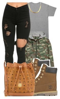 """""""1/30/16"""" by xtaymaxlovesxmisfitx ❤ liked on Polyvore featuring October's Very Own, Timberland, MCM, women's clothing, women, female, woman, misses and juniors"""
