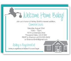 7 best welcome home baby shower images on pinterest baby shower custom welcome home baby shower invitation in white and blue by shameronstudios filmwisefo
