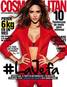 Revista #COSMOPOLITAN, #marzo 2016. #JessicaAlba, 7 consejos para #triunfar. 10 #tendencias de #moda para estrenar, 15 nuevos #beauty #looks...