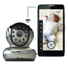 Motorola Blink 1 WiFi Baby Camera - Smartphone compatible | i really want a baby monitor that allows me to see live video from anywhere on my iphone or a computer with internet connection. i also love the idea of being able to pan the camera around the room, and being able to speak to my baby from my phone to the camera in his room, (even when mommys not home) (i will be going back to work asap)