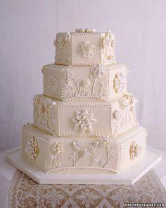 Applique Wedding Cake