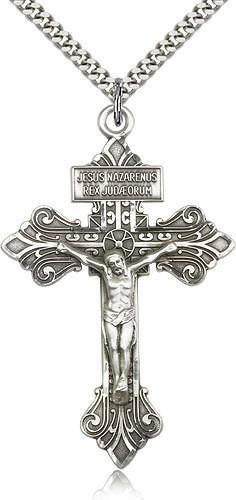 Handmade Mother of Pearl Latin Roman Cross Sterling Silver Bethlehem Palestine