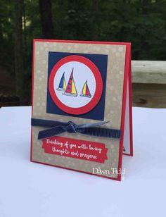 Sail Away by Dawn Tidd.  Stampin Up 2018-2019 Lilypad Lake.