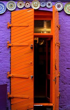 Neal's Yard - #London, England #orange #door