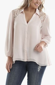 502c17fe88 Lace trim blouse with jeans or for evening. Classy. Lace Trim