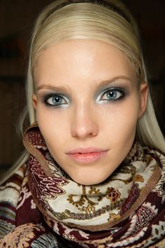 FW2014, backstage beauty, Donna Karan, New York Fashion Week, Fall/Winter 2014-2015, Sasha Luss