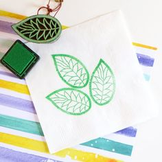 Whether you are planning a party or your own wedding, stamped napkins are an easy way to add a pop of color and detail to your event!