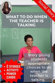 Great for back to school.  Discusses what the student should be doing when the teacher is talking in a positive and simple way.  Social stories are a great way to teach students about the rules.  Also includes a sorting activity and power cards.  Download