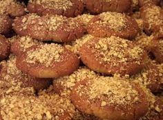 Melomakarona Greek Christmas Honey Cookie Recipe - I am freaking obsessed with these! Greek Sweets, Greek Desserts, Cookie Desserts, Greek Recipes, Cookie Recipes, Dessert Recipes, Greek Meals, Simply Recipes, Greek Cookies