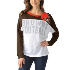 Cleveland Browns Women s Ralph Long Sleeve T-Shirt - Brown 9b213a41b