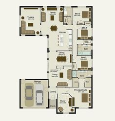 sekisui house australia 4 bedroom study slice off the theatre and streamline the - 4 Bedroom House Designs