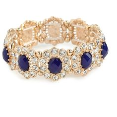 BaubleBar Navy Bloom Bracelet (100 BRL) ❤ liked on Polyvore featuring jewelry, bracelets, accessories, blue, joias, baublebar jewelry, navy jewelry, blue bangles, statement bracelet and navy blue jewelry
